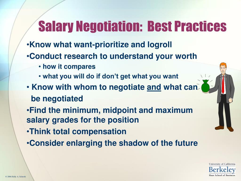 Salary Negotiation:  Best Practices
