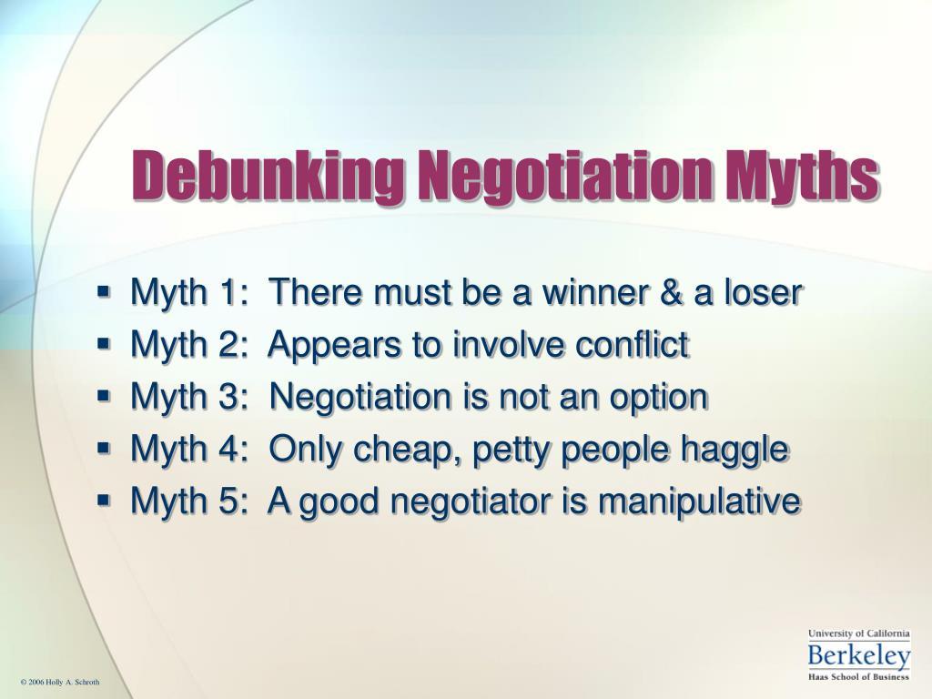 Debunking Negotiation Myths