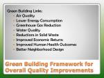 green building framework for overall quality improvements
