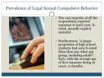 prevalence of legal sexual compulsive behavior10
