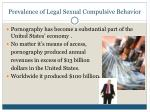prevalence of legal sexual compulsive behavior14