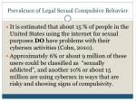 prevalence of legal sexual compulsive behavior18