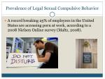 prevalence of legal sexual compulsive behavior4