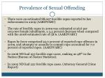 prevalence of sexual offending47