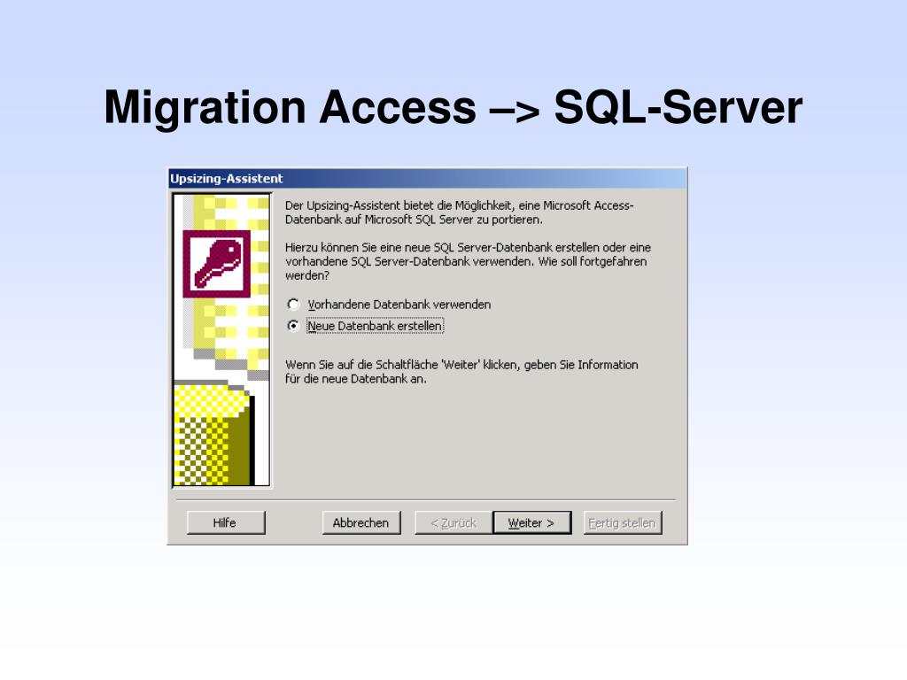 Migration Access –> SQL-Server
