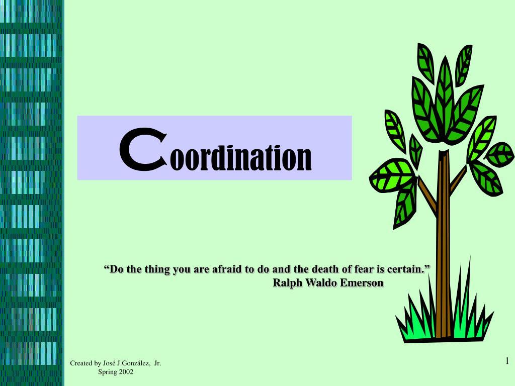 c oordination l.