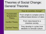 theories of social change general theories