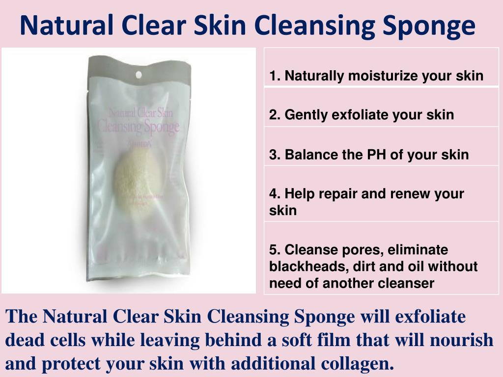 Natural Clear Skin Cleansing Sponge