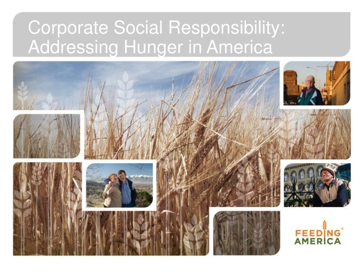 Corporate Social Responsibility:  Addressing Hunger in America