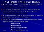 child rights are human rights