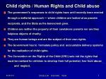 child rights human rights and child abuse