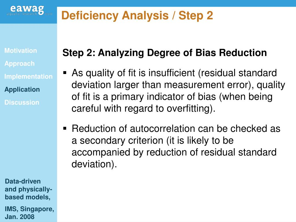 Deficiency Analysis / Step 2