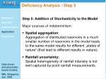 deficiency analysis step 5