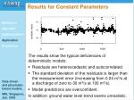 results for constant parameters30