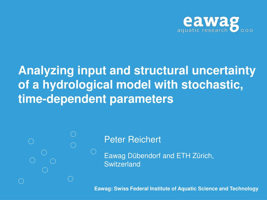 Analyzing input and structural uncertainty of a hydrological model with stochastic, time-dependent parameters
