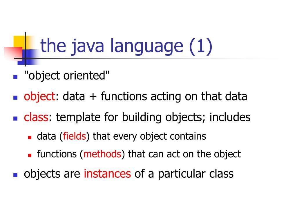 the java language (1)