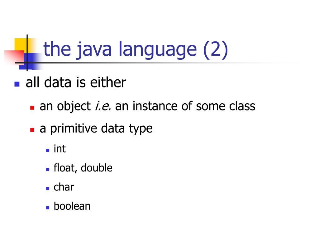 the java language (2)