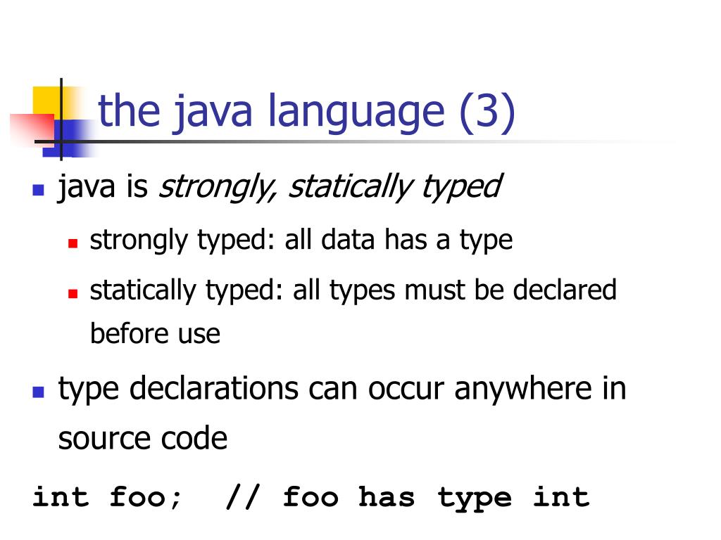 the java language (3)