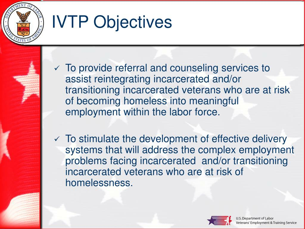 IVTP Objectives