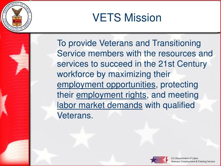 Vets mission