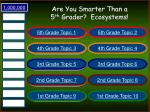 are you smarter than a 5 th grader ecosystems