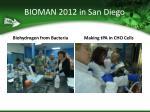 bioman 2012 in san diego