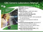 gbc generic laboratory manual