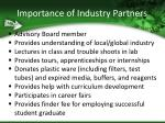 importance of industry partners