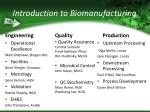 introduction to biomanufacturing11