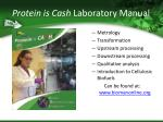 protein is cash laboratory manual