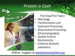 protein is cash