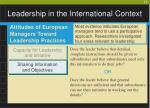 leadership in the international context17