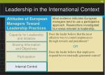 leadership in the international context19