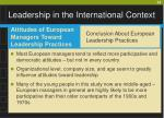 leadership in the international context22