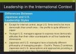 leadership in the international context24