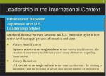 leadership in the international context27