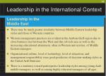 leadership in the international context32