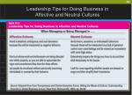 leadership tips for doing business in affective and neutral cultures