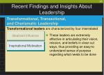 recent findings and insights about leadership37