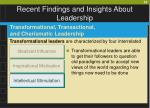 recent findings and insights about leadership38