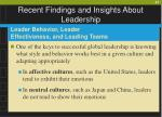 recent findings and insights about leadership47