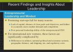 recent findings and insights about leadership58
