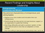 recent findings and insights about leadership59