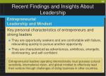 recent findings and insights about leadership60