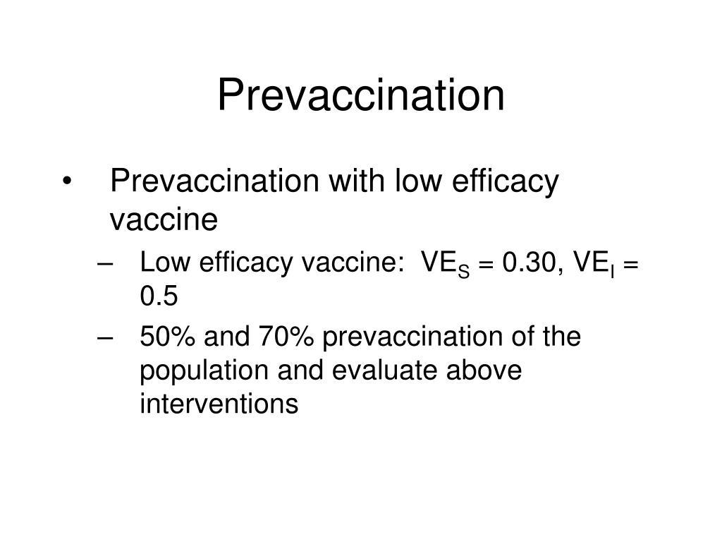 Prevaccination