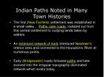 indian paths noted in many town histories