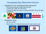 chesapeake bay watershed partners