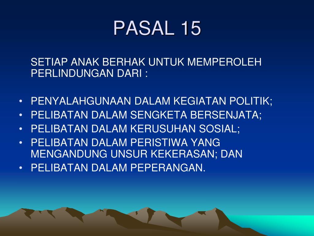 PASAL 15
