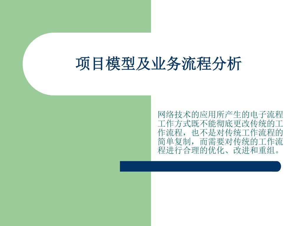 项目模型及业务流程分析