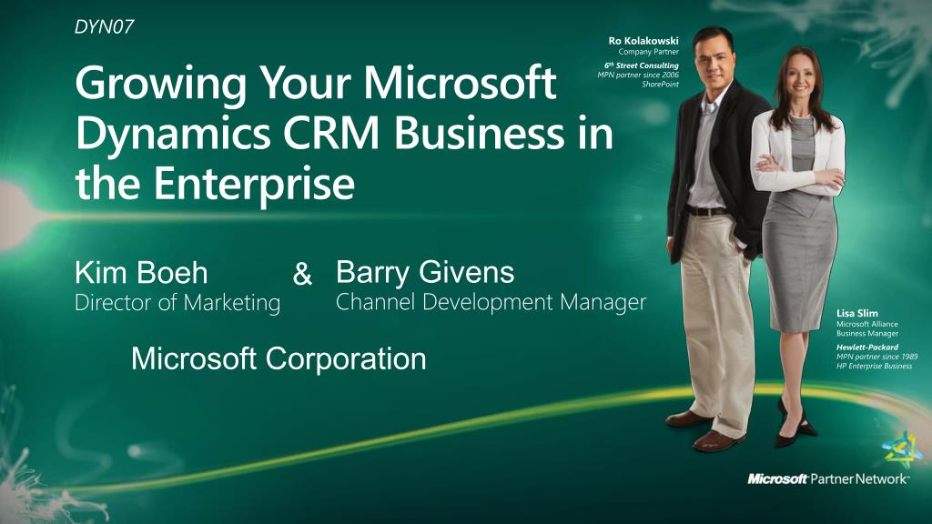 growing your microsoft dynamics crm business in the enterprise l.
